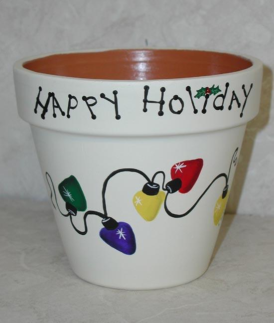 Christmas Flower Pot Ideas