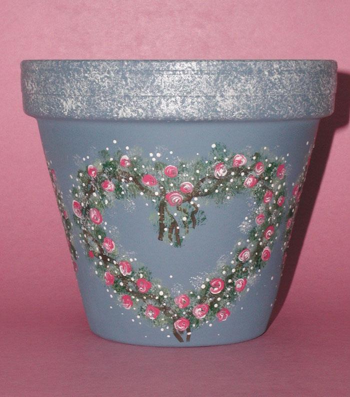 4 flower pot on pinterest clay pots painted flower pots for Big pot painting designs